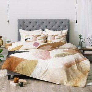 Urban Outfitters abstract duvet cover F/Q Sham New